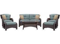 Hanover - STRATHMERE6PCBLU - Patio Seating Sets