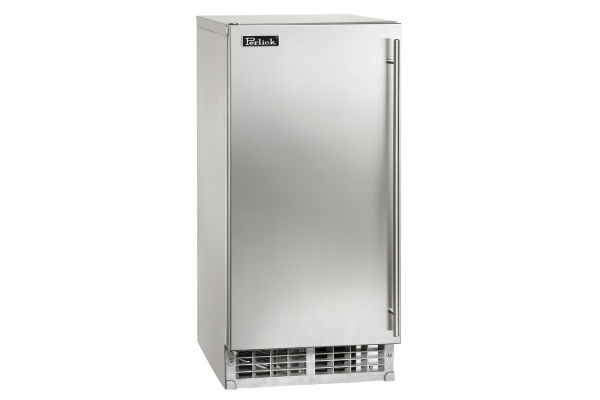 """Large image of Perlick ADA Compliant 15"""" Stainless Steel Left-Hinge Clear Ice Maker - H50IMS-ADL"""