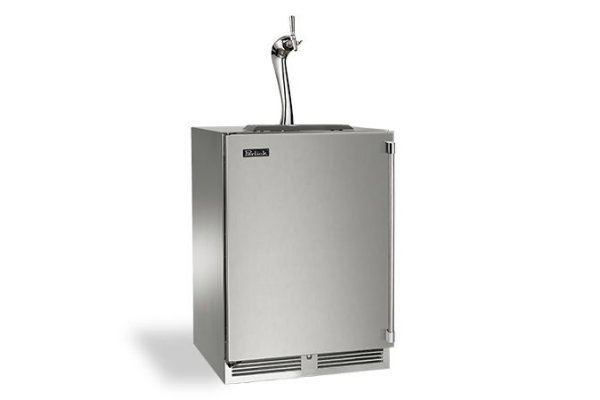"""Large image of Perlick Signature Series Adara 24"""" Panel Ready Left-Hinge Double Faucet Beverage Dispenser - HP24TS-4-2L2A"""