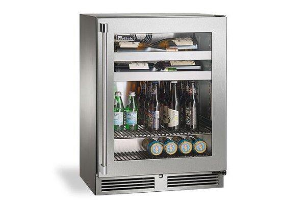 "Large image of Perlick Signature Series 24"" Custom Panel Left-Hinge Indoor Beverage Center - HH24BS-4-2L"