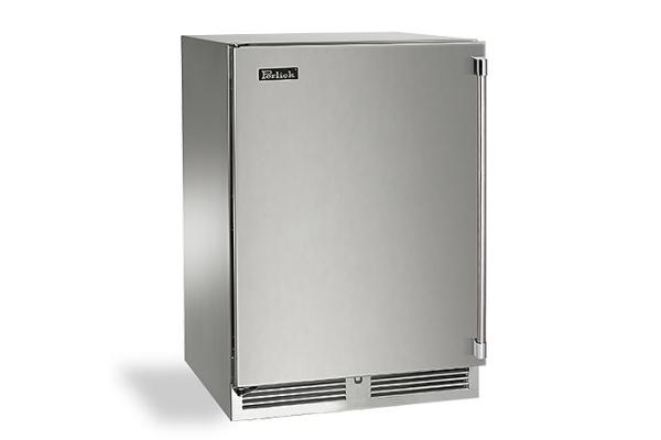 "Large image of Perlick Signature Series 24"" Left-Hinge Custom Panel Outdoor Freezer - HP24FO-4-2L"