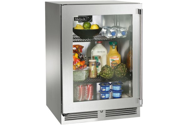 """Large image of Perlick Signature Series 24"""" Stainless Frame Right-Hinge Outdoor Refrigerator - HP24RO-4-3R"""