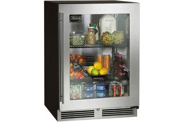 "Large image of Perlick ADA Compliant 24"" Custom Panel Frame Left-Hinge Indoor Refrigerator - HA24RB-4-4L"