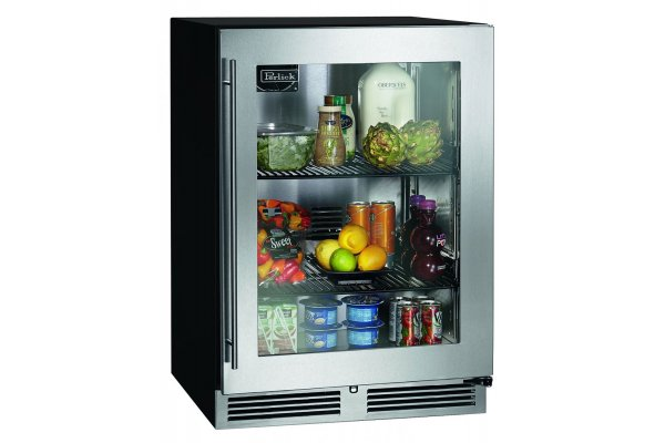 "Large image of Perlick ADA Compliant 24"" Custom Panel Frame Right-Hinge Indoor Refrigerator - HA24RB-4-4R"