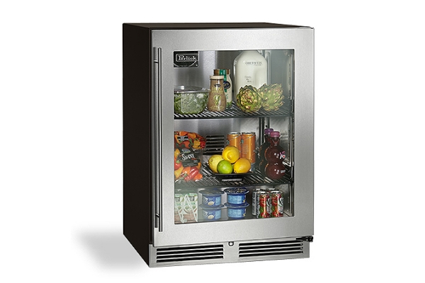 "Large image of Perlick C-Series 24"" Stainless Frame Left-Hinge Refrigerator - HC24RB-4-3L"