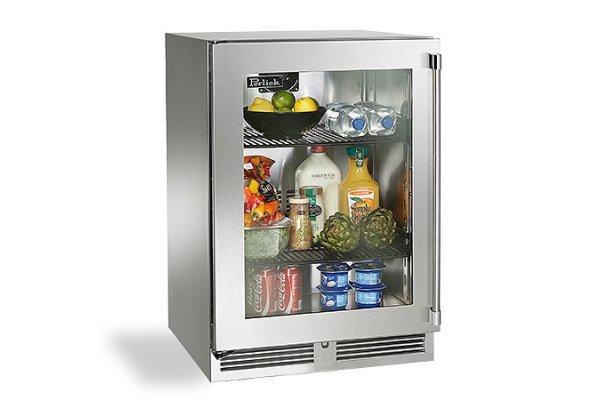 "Large image of Perlick Signature Series 24"" Custom Frame Left-Hinge Indoor Refrigerator - HP24RS-4-4L"