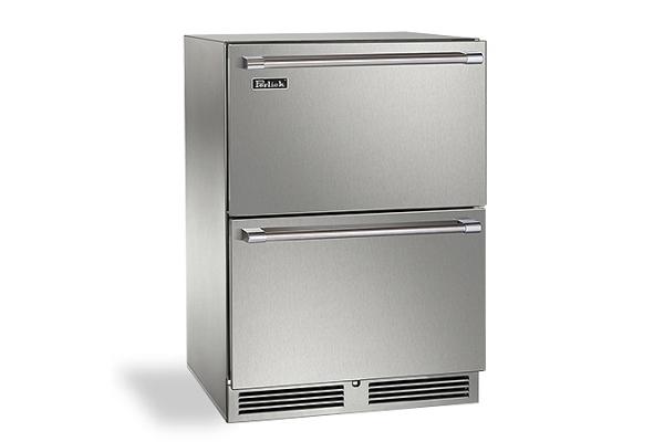 "Large image of Perlick Signature Series 24"" Custom Panel Indoor Refrigerator Drawers - HP24RS-4-6"