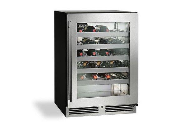 "Large image of Perlick C-Series 24"" Custom Frame Left-Hinge Indoor Wine Reserve - HC24WB-4-4L"