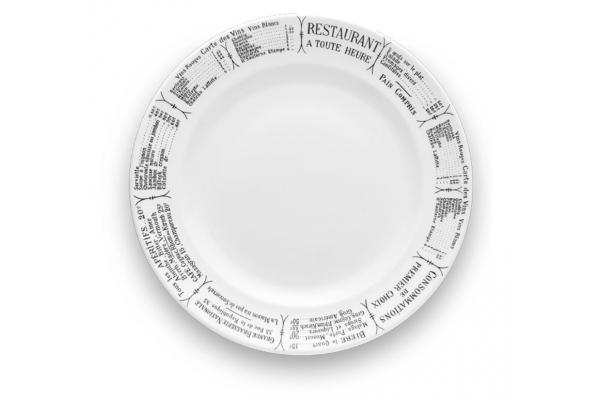 """Large image of Pillivuyt Brasserie 9.5"""" Dinner Plate - 210124BR"""