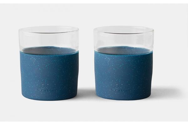Large image of Rabbit Set of 2 Blue Freezable Whiskey Glasses - R421208