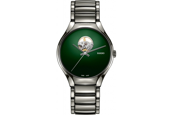 Large image of Rado True Secret Green Dial Ceramic Watch, 40mm - R27108312