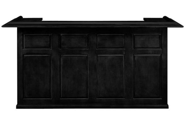 "Large image of RAM Game Room 84"" Black Dry Bar - DBAR84-BK"