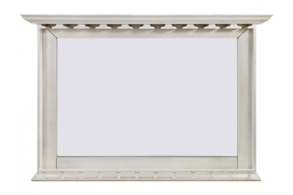 Large image of RAM Game Room Antique White Bar Mirror - BMRAW