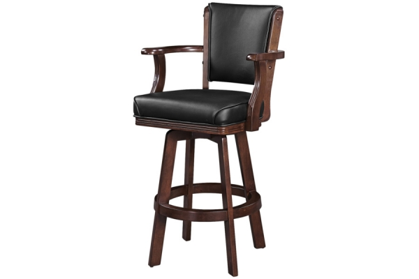 Large image of RAM Game Room Cappuccino Backed Swivel Barstool with Arms - BSTL2CAP