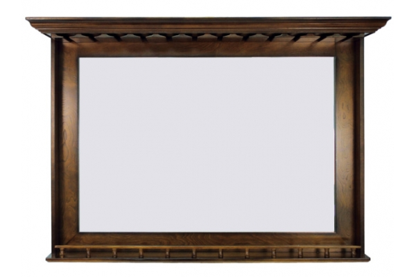 Large image of RAM Game Room Chestnut Bar Mirror - BMRCN