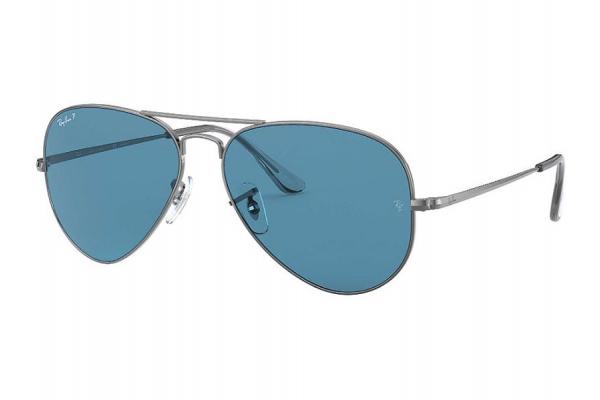 Large image of Ray-Ban Aviator Polarized Blue Gradient Unisex Sunglasses - RB3689004S258