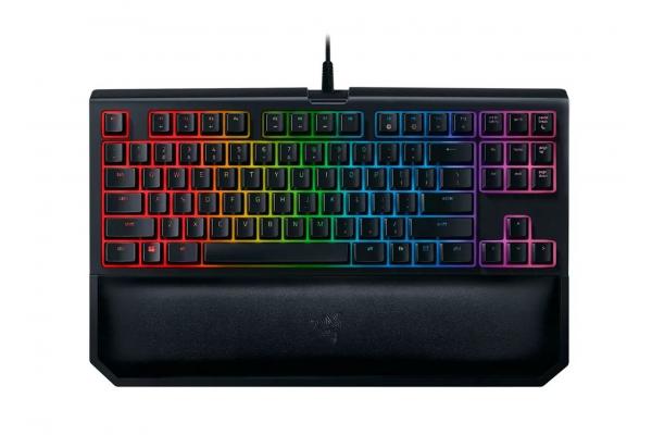 Large image of Razer BlackWidow Tournament Edition Chroma V2 Gaming Keyboard with Green Mechanical Switches - RZ03-02190200-R3U1