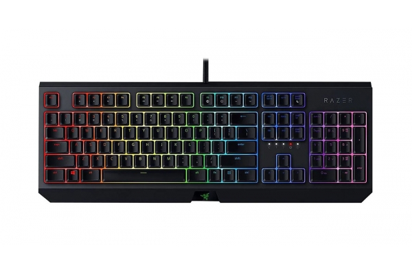 Large image of Razer BlackWidow Gaming Keyboard with Green Mechanical Switches - RZ03-02860200-R3U1
