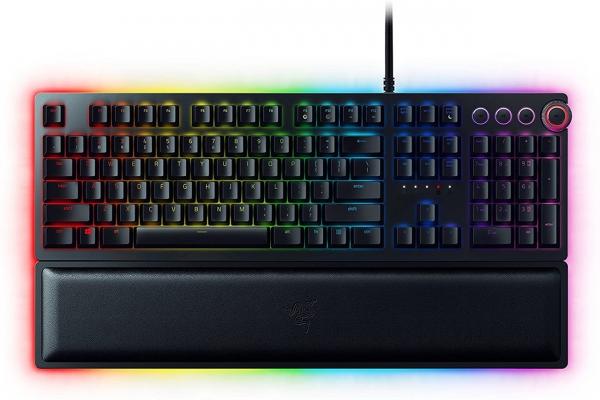 Large image of Razer Huntsman Elite Clicky Optical Switch Gaming Keyboard - RZ03-01870200-R3U1