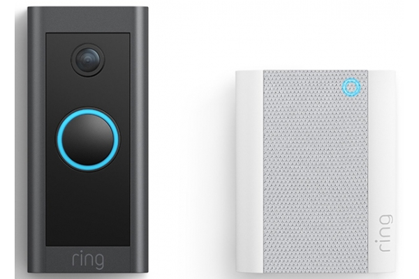 Large image of Ring Black Video Doorbell Wired With Chime - B08H5V7RSH