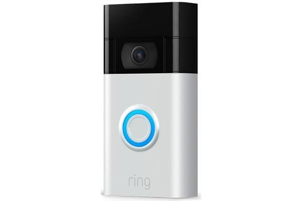 Large image of Ring Satin Nickel Video Doorbell (2020) - B08N5NQ869