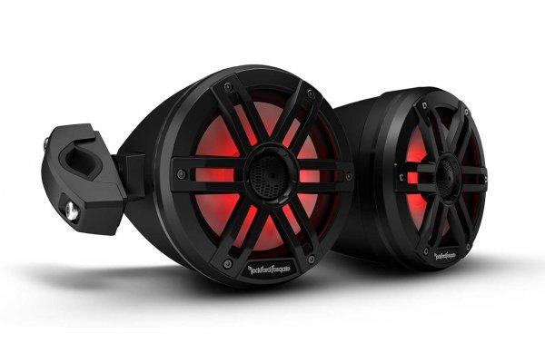 "Large image of Rockford Fosgate M0 6.5"" Color Optix Black Marine 2-Way Moto-Can Speakers (Pair) - M1WL-65MB"