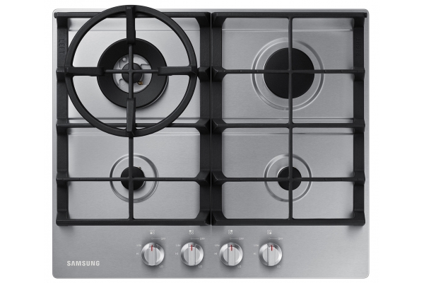 "Large image of Samsung 24"" Stainless Steel Gas Cooktop - NA24T4230FS/AA"