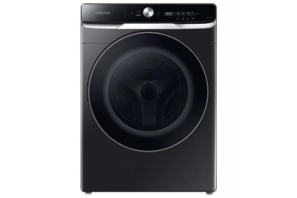 Large image of Samsung 5.0 Cu. Ft. Brushed Black Front Load Washer w/ OptiWash - WF50A8800AV/US