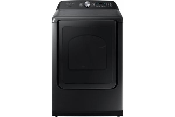 Large image of Samsung 7.4 Cu. Ft. Brushed Black Gas Dryer With Sensor Dry - DVG50R5200V/A3