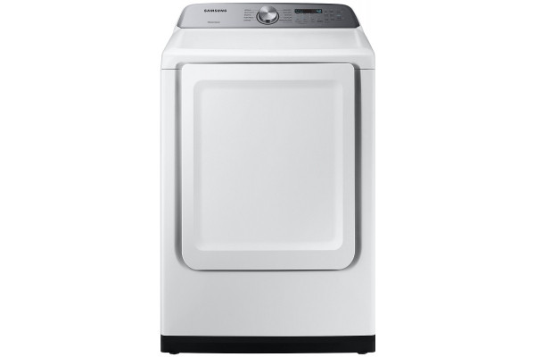 Large image of Samsung 7.4 Cu. Ft. White Gas Dryer With Sensor Dry - DVG50R5200W/A3