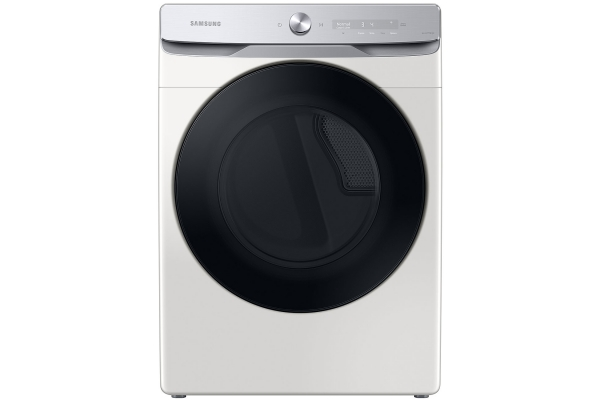 Large image of Samsung 7.5 Cu. Ft. Ivory Smart Dial Electric Dryer With Super Speed Dry - DVE50A8600E/A3