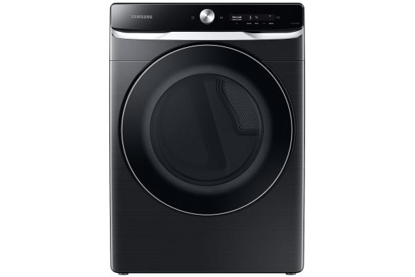 Large image of Samsung 7.5 Cu. Ft. Brushed Black Smart Dial Electric Dryer With Super Speed Dry - DVE50A8800V/A3