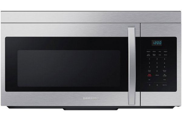 Large image of Samsung 1.6 Cu. Ft. Stainless Steel Over-The-Range Microwave With Auto Cook - ME16A4021AS/AA