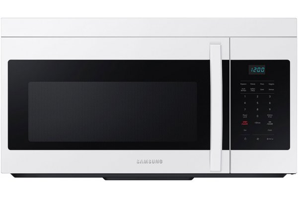 Large image of Samsung 1.6 Cu. Ft. White Over-The-Range Microwave With Auto Cook - ME16A4021AW/AA