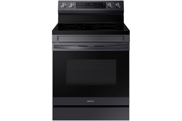 Large image of Samsung 6.3 Cu. Ft. Fingerprint Resistant Black Stainless Steel Smart Freestanding Electric Range With No-Preheat Air Fry & Convection - NE63A6511SG/AA