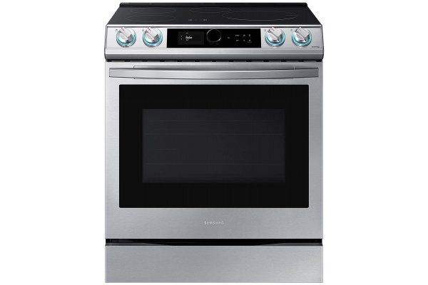 Large image of Samsung 6.3 Cu. Ft. Fingerprint Resistant Stainless Steel Smart Slide-In Induction Range With Smart Dial & Air Fry - NE63T8911SS/AA