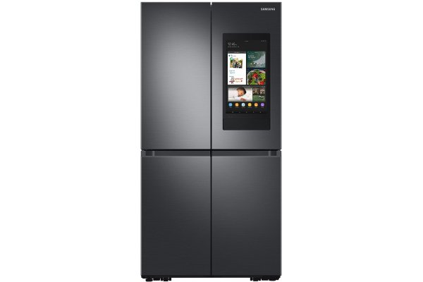 Large image of Samsung 22.5 Cu. Ft. Fingerprint Resistant Black Stainless Steel Smart Counter Depth 4-Door Flex Refrigerator Featuring Family Hub With Beverage Center And Dual Ice Maker - RF23A9771SG/AA