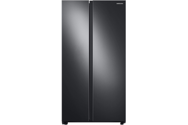 Large image of Samsung 28 Cu. Ft. Fingerprint Resistant Black Stainless Steel Smart Side-By-Side Refrigerator With Large Capacity - RS28A500ASG/AA