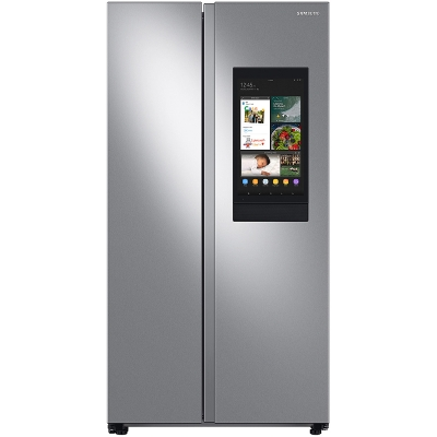 Samsung 27.3 Cu. Ft. Fingerprint Resistant Stainless Steel Smart Side-By-Side Refrigerator With Family Hub