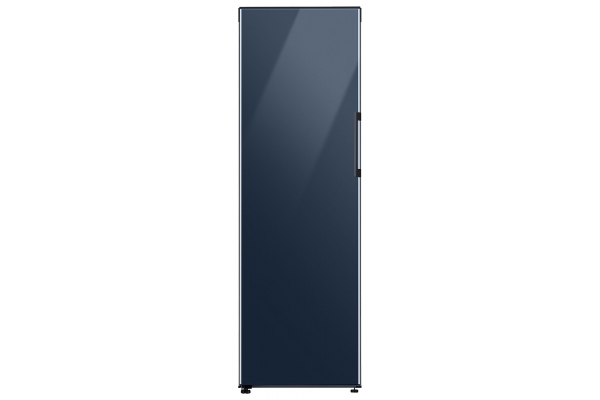 Large image of Samsung 11.4 Cu. Ft. BESPOKE Navy Glass Flex Column Refrigerator With Customizable Colors And Flexible Design - RZ11T747441/AA