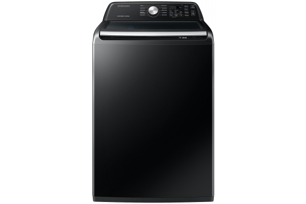 Large image of Samsung 4.4 Cu. Ft. Brushed Black Top Load Washer With ActiveWave Agitator And Active WaterJet - WA44A3405AV/A4