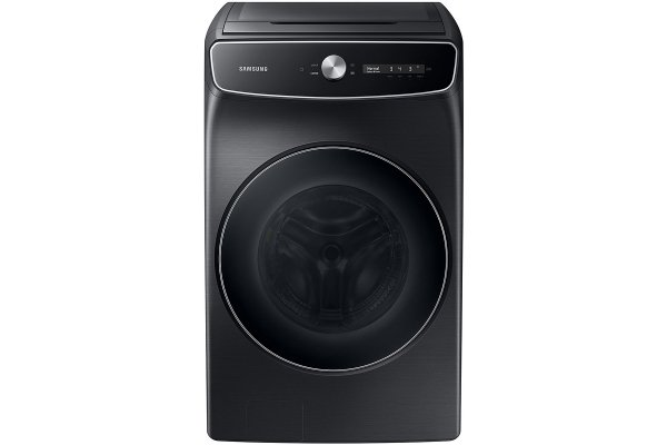 Large image of Samsung 6 Cu. Ft. Brushed Black Smart Dial Washer With FlexWash And Super Speed Wash - WV60A9900AV/A5