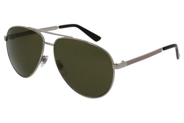 Large image of Gucci Ruthenium Pilot Acetate Mens Sunglasses - GG0137S003
