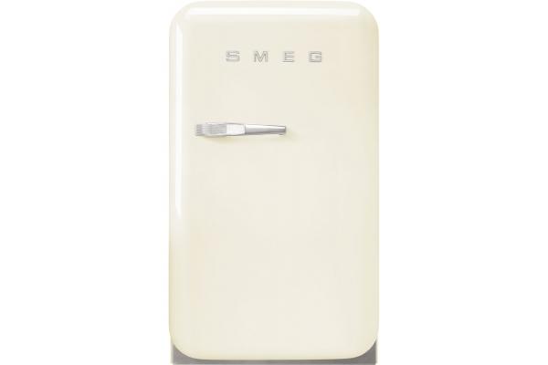 Large image of Smeg 50's Retro Style Mini Cream Right-Hinge Refrigerator - FAB5URCR3