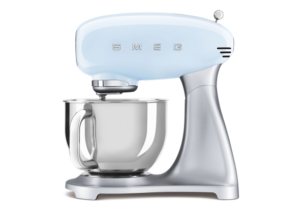 Large image of Smeg 50s Retro Pastel Blue Stand Mixer - SMF02PBUS