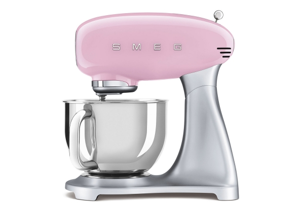 Large image of Smeg 50's Style Pink Stand Mixer - SMF02PKUS
