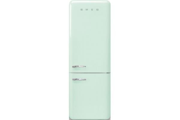 Large image of Smeg 50's Retro Style Aesthetic 18 Cu. Ft. Pastel Green Right-Hinge Bottom Freezer Refrigerator - FAB38URPG
