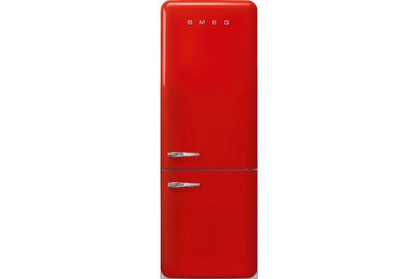 Large image of Smeg 50's Retro Style Aesthetic 18 Cu. Ft. Red Right-Hinge Bottom Freezer Refrigerator - FAB38URRD