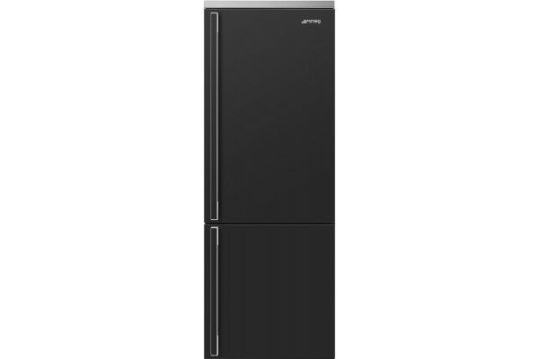 """Large image of Smeg Portofino 28"""" Anthracite Right-Hinge Bottom Freezer Refrigerator - FA490URAN"""