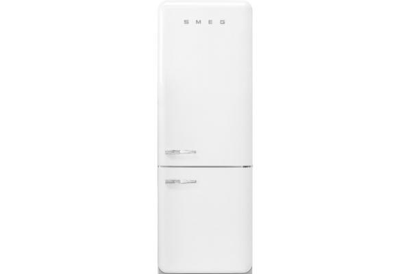 Large image of Smeg 50's Retro Style Aesthetic 18 Cu. Ft. White Right-Hinge Bottom Freezer Refrigerator - FAB38URWH